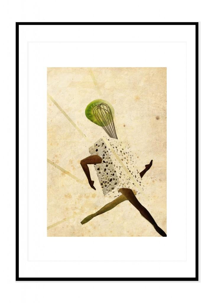 cadre noir- collage barbara penhouet- et zou