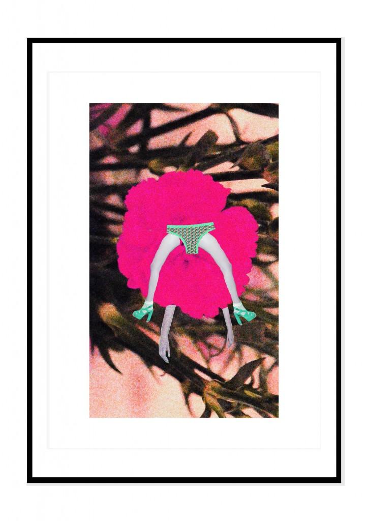 cadre noir- collage barbara penhouet- guirlandz